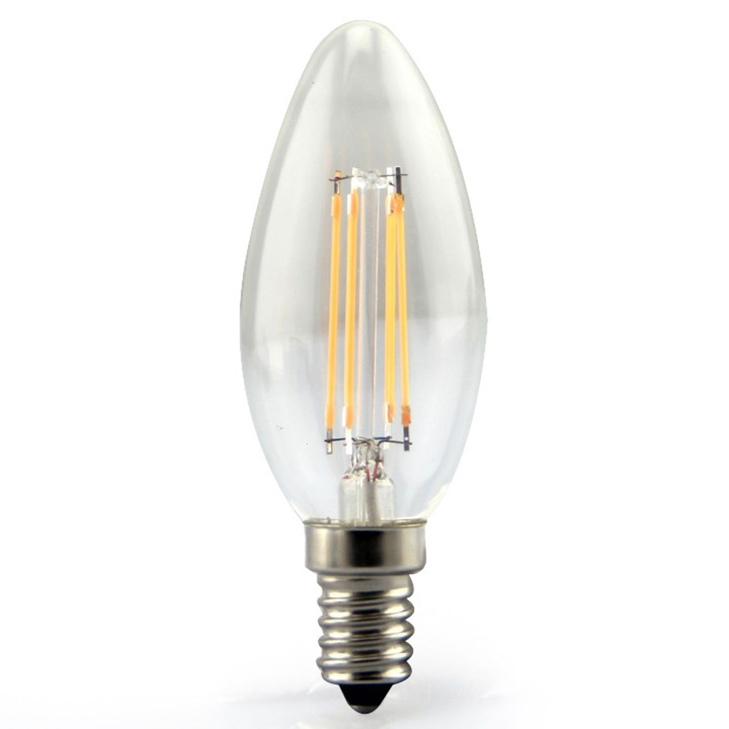 Led E 14 E14 Led Filament Candle Glass Bulb 360 Beam Angle